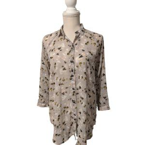 CAbi #5204 Floral Print Matinee Blouse